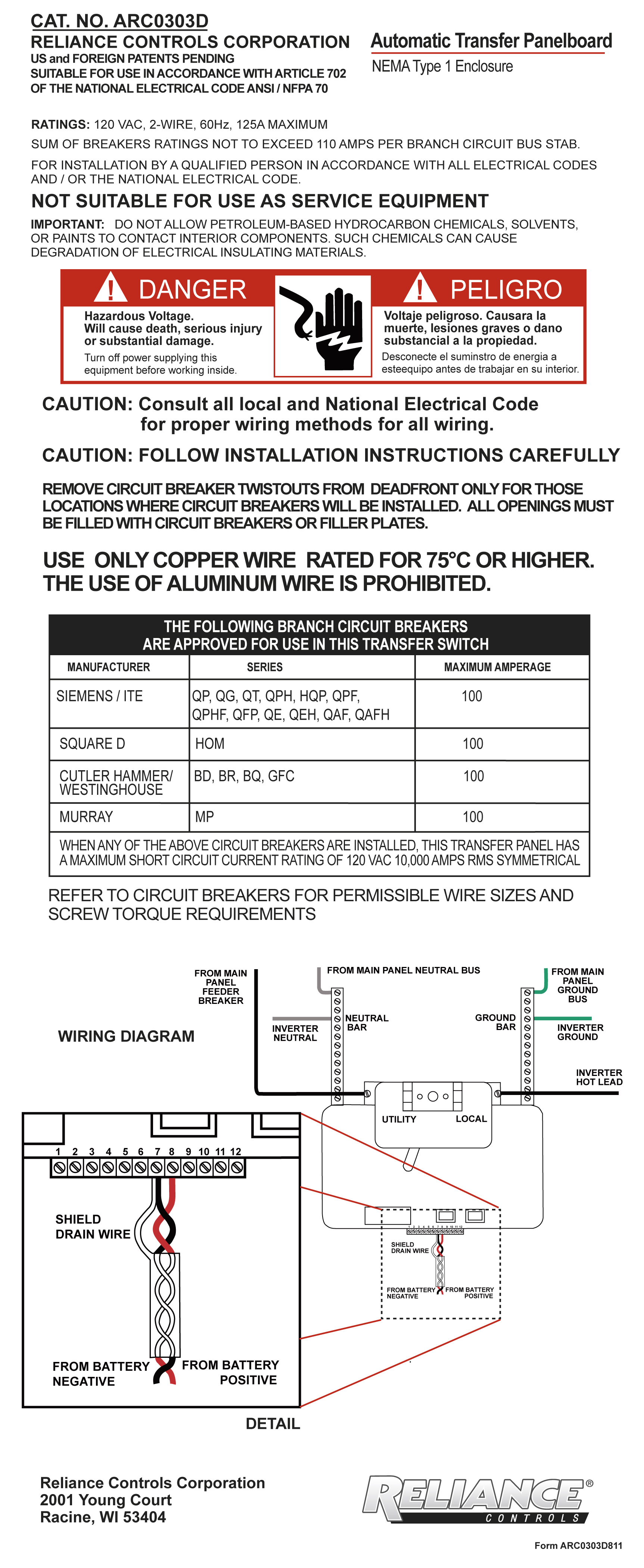 Newsroom Reliance Controls Corporation Auto Transfer Switch Wiring Diagram Besides Automatic Ecotran Installation Instructions